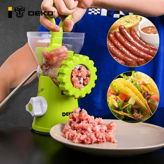 DEKO Manual Meat Grinder Multifunctional Vegetable Chopper Blender Mincer Enema Machine Household Kitchen Tools