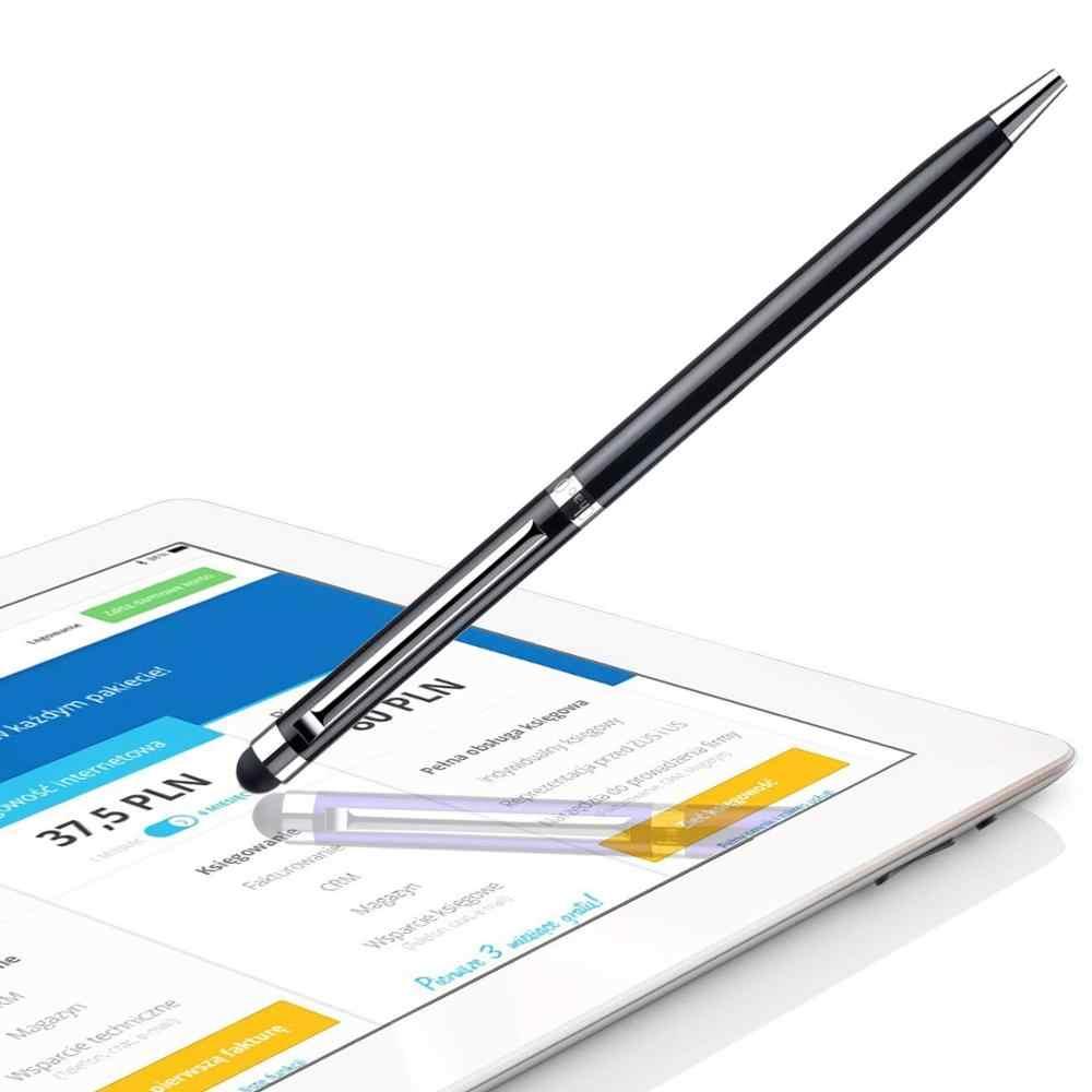 1pc 容量性タッチスクリーンスタイラスペン Iphone アプリ Ipod Touch 用スーツ他のスマートフォンのタブレット金属スタイラス鉛筆