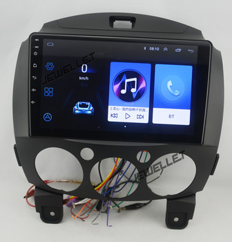 10.1 rotate screen quad core 2.5D IPS screen android 8.1 Car GPS radio Navigation for Mazda2 mazda Demio 2007-2014 image