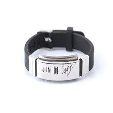 Kpop в стиле группы Bangtan Boys группа членов именной браслет подписи регулируемый браслет для женщин мужчин ювелирные изделия вечерние подарок