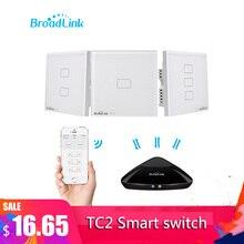 Broadlink TC2 1/2/3 Gang Uk Standaard Smart Home 433Mhz Wifi/4G Afstandsbediening Via Rm pro Muur Touch Light Switch 1 Manier