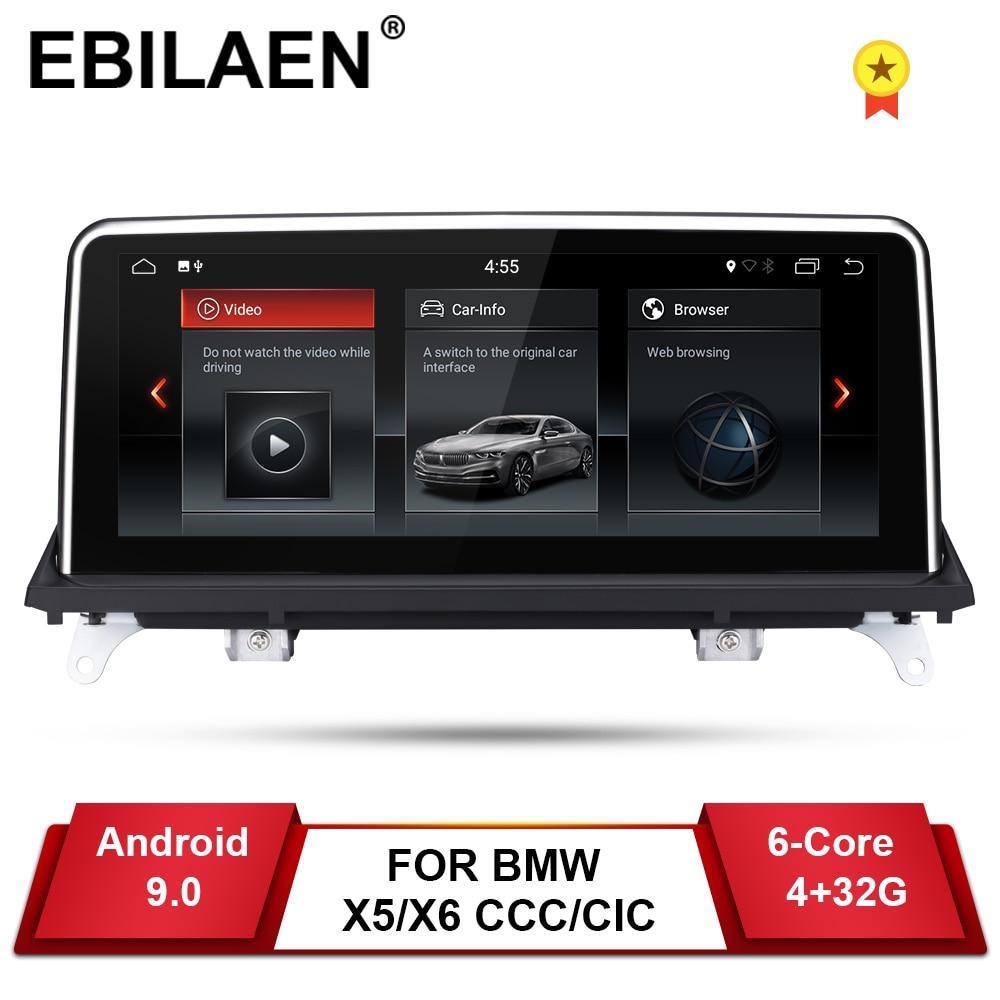 Reprodutor de dvd do carro de ebilaen android 9.0 para bmw x5 e70/x6 e71 (2007-2013) ccc/cic unidade de sistema de navegação do pc android multimídia ips