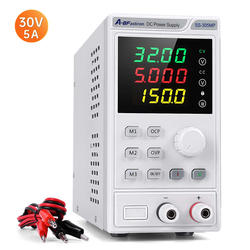 A-BF Adjustable DC Power Supply 30V 5A Lab Programmable Memory Function Voltage Regulator 4 Digit Display Switching Power Source
