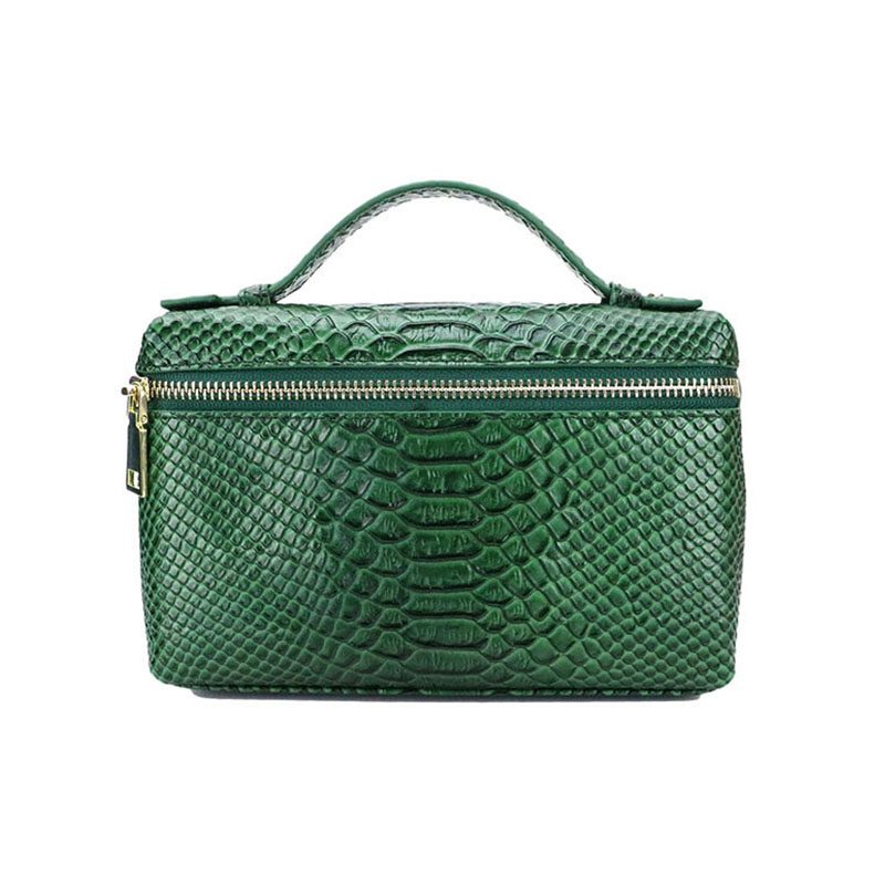 Fashion Customized Service Python Pattern Leather Small Clutch Bag Snake Leather Portable Hand Bag Purse