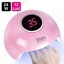 Lâmpada uv para manicure led secador de unhas lâmpada luz solar cura todos os gel polonês secagem uv gel usb inteligente sincronismo ferramentas da arte do prego LASTAR6 1