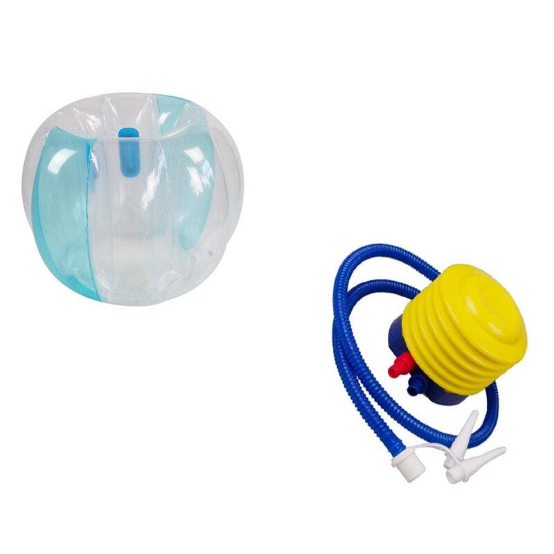 Забавный спортивный утолщенный ударопрочный надувной мяч для бампера, наружный шар для лужайки 90 см с воздушным насосом
