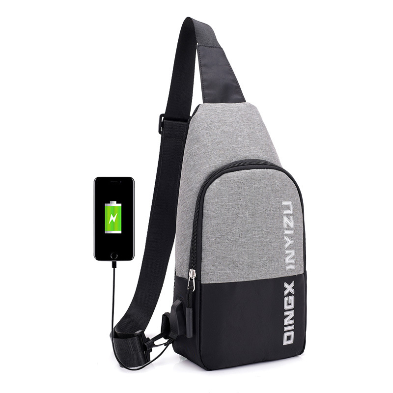 Cross Border Trend New Style Casual USB Rechargeable Smart Chest Bag Fashion Shoulder Multi-functional Chest Pack Customizable