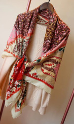 2020 new arrival  winter autumn Paisley colorful 70% cashmere 30% silk scarf 140*140 cm big warm shawl wrap for women lady girl