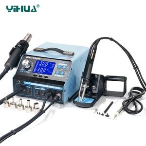 Image 1 - YIHUA 992DA + 핫 에어 건 재 작업 솔더링 스테이션 BGA 솔더링 스테이션 수리 보드 재 작업 스테이션 솔더링 110V 또는 220V