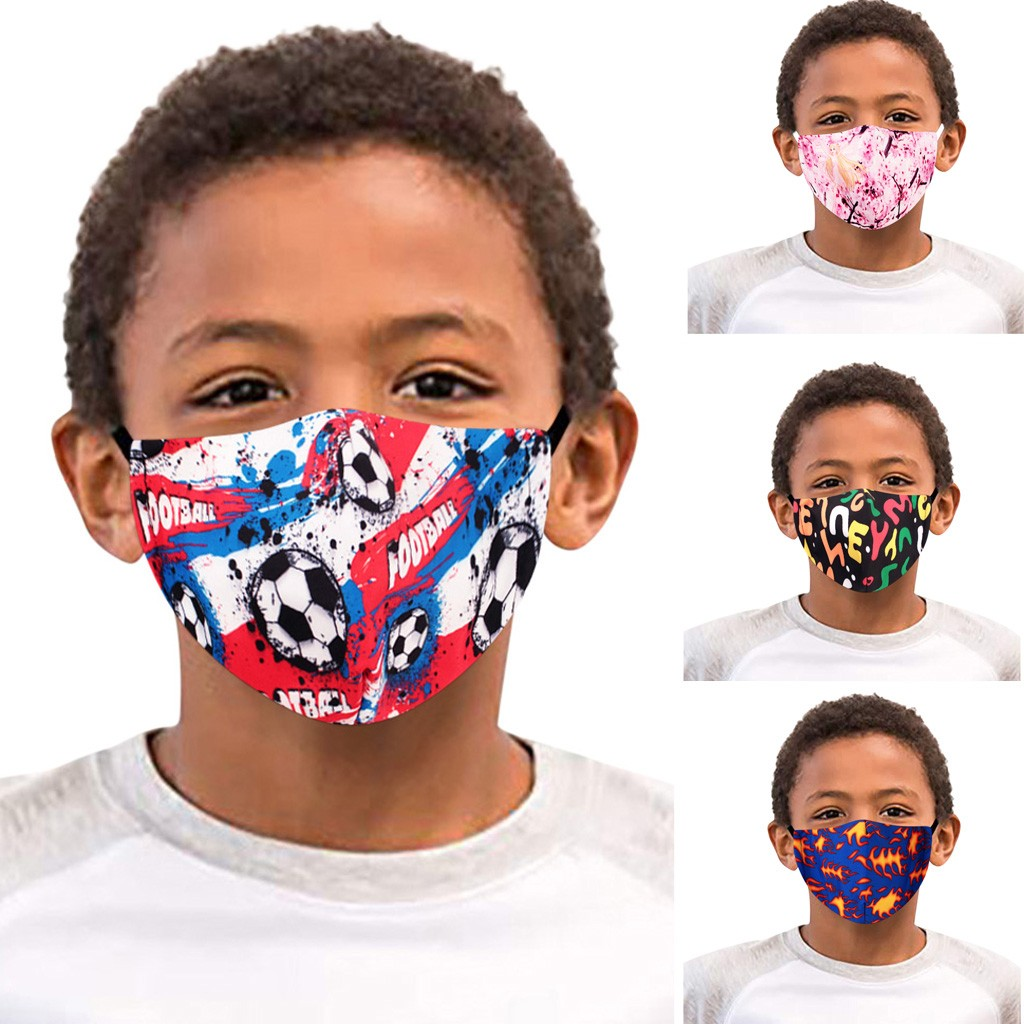 Print Kids Mouth Face Masks For Children Washable Reusable Mask Filter Cute Cotton Mask Face Mouth Protection Cover Outdoor