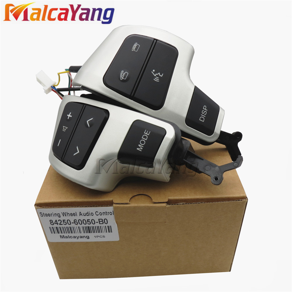 84250-60050 8425060050 Steering Wheel Audio Control Switch/Button With Bluetooth For Toyota Land Cruiser GRJ200 UZJ200 VDJ200(China)