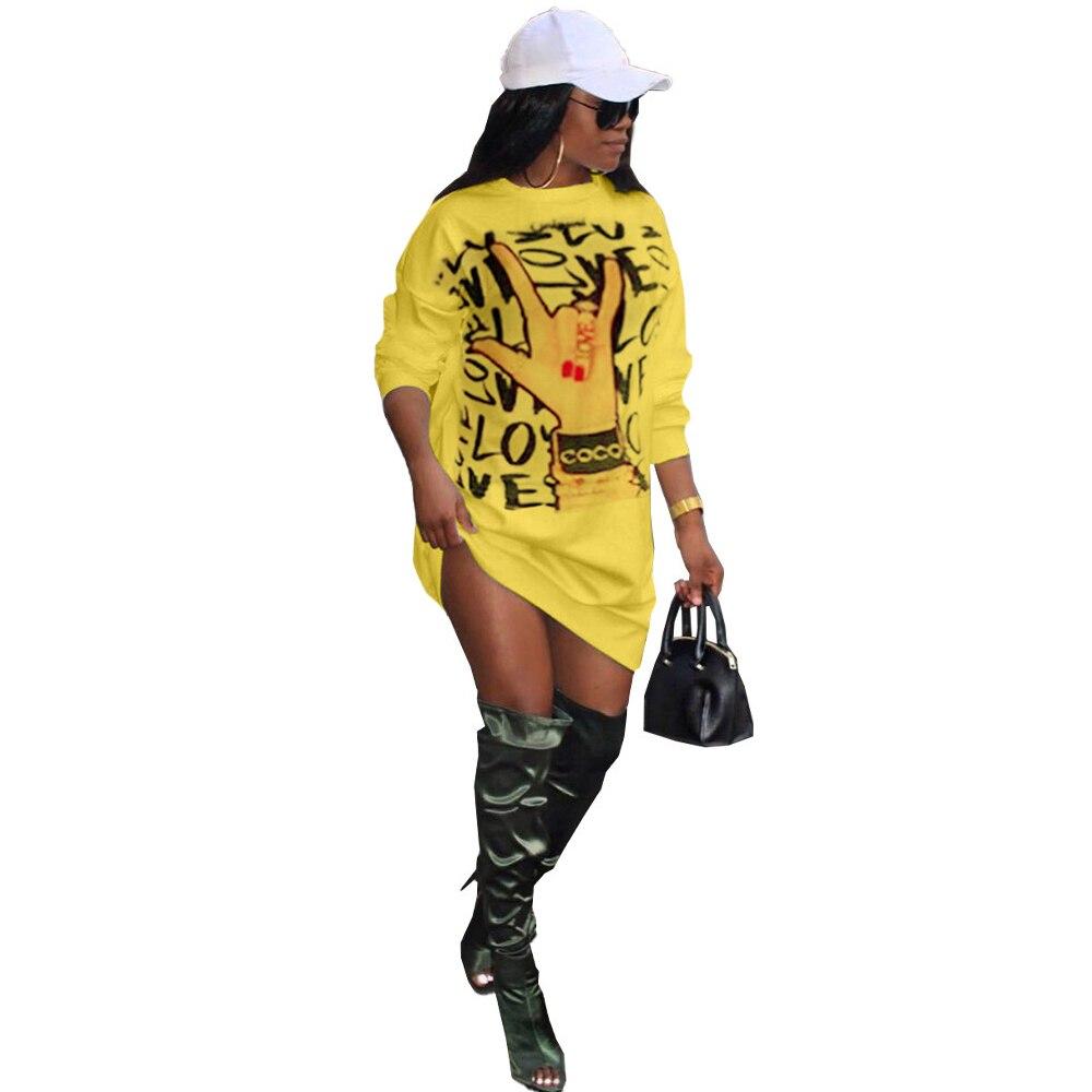 Буквенным принтом «love» с в стиле Харадзюку футболка платье
