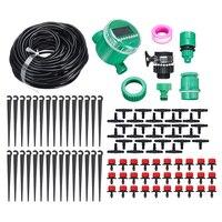 Kits de rega automática do auto do sistema de irrigação de refrigeração do jardim do sistema de irrigação do gotejamento de 25m com 30 dripper cabeças|Kits de rega| |  -