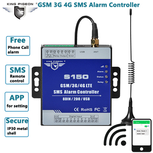 Sms alarme controlador gsm 3g 4g interruptor do relé remoto sistema de alarme de controle de automação industrial para estações de bombeamento tanques