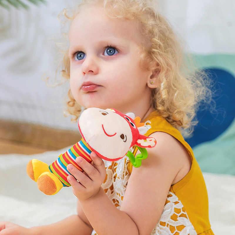 แขวนตุ๊กตาของเล่นเด็ก Rattle น่ารักการ์ตูนสัตว์ Bell เด็กแรกเกิดรถเข็นเด็กอุปกรณ์เสริมของเล่นเด็ก 6 สไตล์สิงโตกวางช้าง