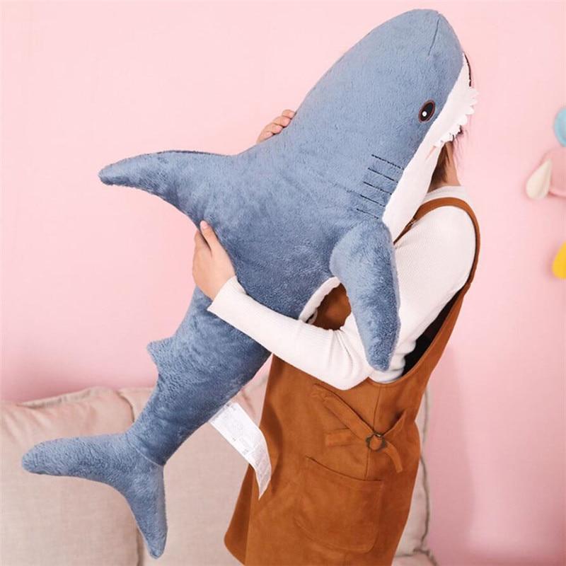 Nooer 80cm 100cm Plush Toys Stuffed Toy Shark Kids Children Toys Boys Cushion Girls Animal Reading Pillow For Birthday Gifts