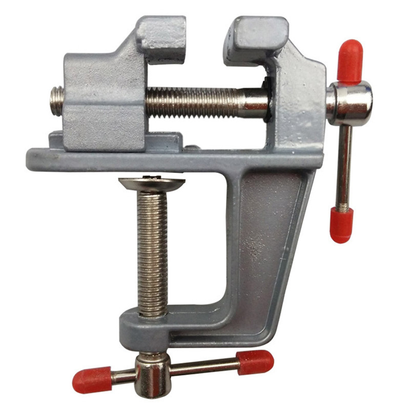 Mini35mm Table Vise Aluminum Alloy Bench Vice Swivel Lock Clamp Craft Jewelers Hobby Home Tool Accessories Mini Bench Vise Table