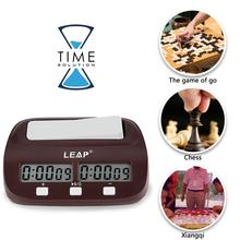 Цифровые шахматные часы LEAP с таймером подсчитывания, спортивные электронные шахматные часы, I-GO, настольные шахматные часы для соревнований
