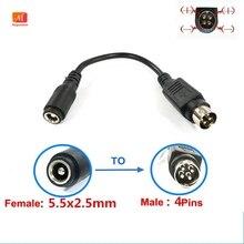 Câble femelle 5.5x2.5mm vers mâle à 4 broches, 10 pièces, pour alimentation de télévision LCD et magnétoscope, SATO TG 5011 19V ES