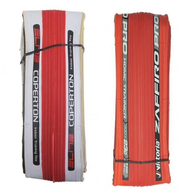 Vittoria ZAFFIRO Pro Home Trainer Tire 26 X 1.1/Elite Coperton Trainer Specific Tire700X23C Red Fold MTB Bicycle tires