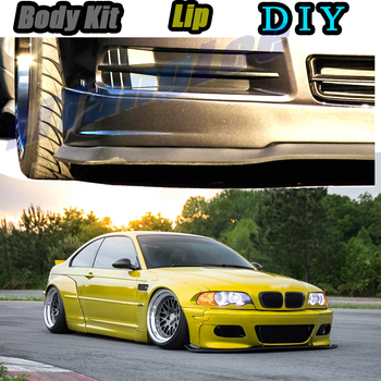 Car Bumper Lip Front Spoiler Skirt Deflector For BMW 3 M3 E30 E36 E46 Tune Car Modified Body Kit VIP Hella Flush Lips image