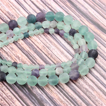 Hot?Sale?Natural?Stone?Frosted Fluorite15.5?Pick?Size?4/6/8/10/12mm?fit?Diy?Charms?Beads?Jewelry?Making?Accessories