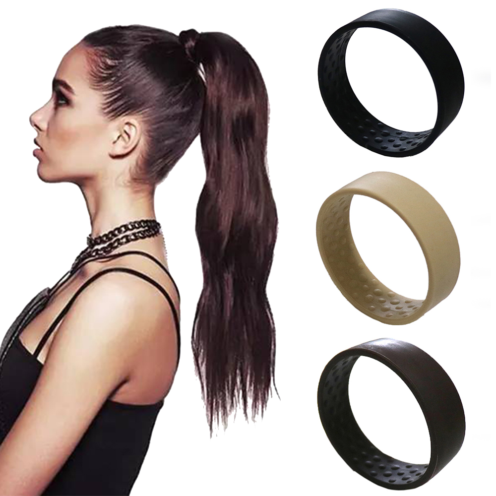 New Silicone Foldable Stationary Elastic Hair Bands For Women Ponytail Holder Simple Multifunction O Hair Tie Accessories