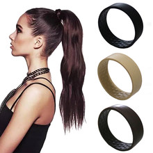 Novo silicone dobrável estacionário elástico faixas de cabelo para as mulheres rabo de cavalo titular simples multifunções o acessórios de gravata de cabelo