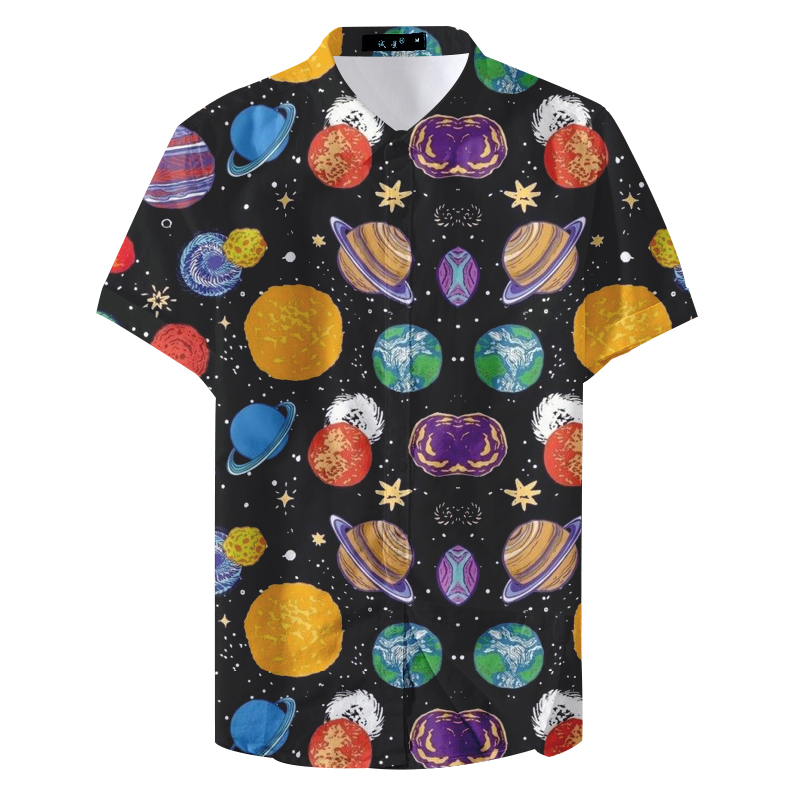 2019 Summer Fashion Hombre Casual Short Sleeve Man Casual Shirt
