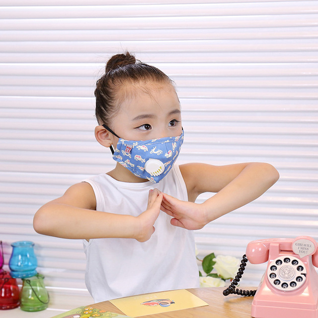 ffp3 boys and girls dustproof, anti-fog, anti-flu, anti-virus, PM2.5, warm and breathable cotton cloth with breathing valve mask 2