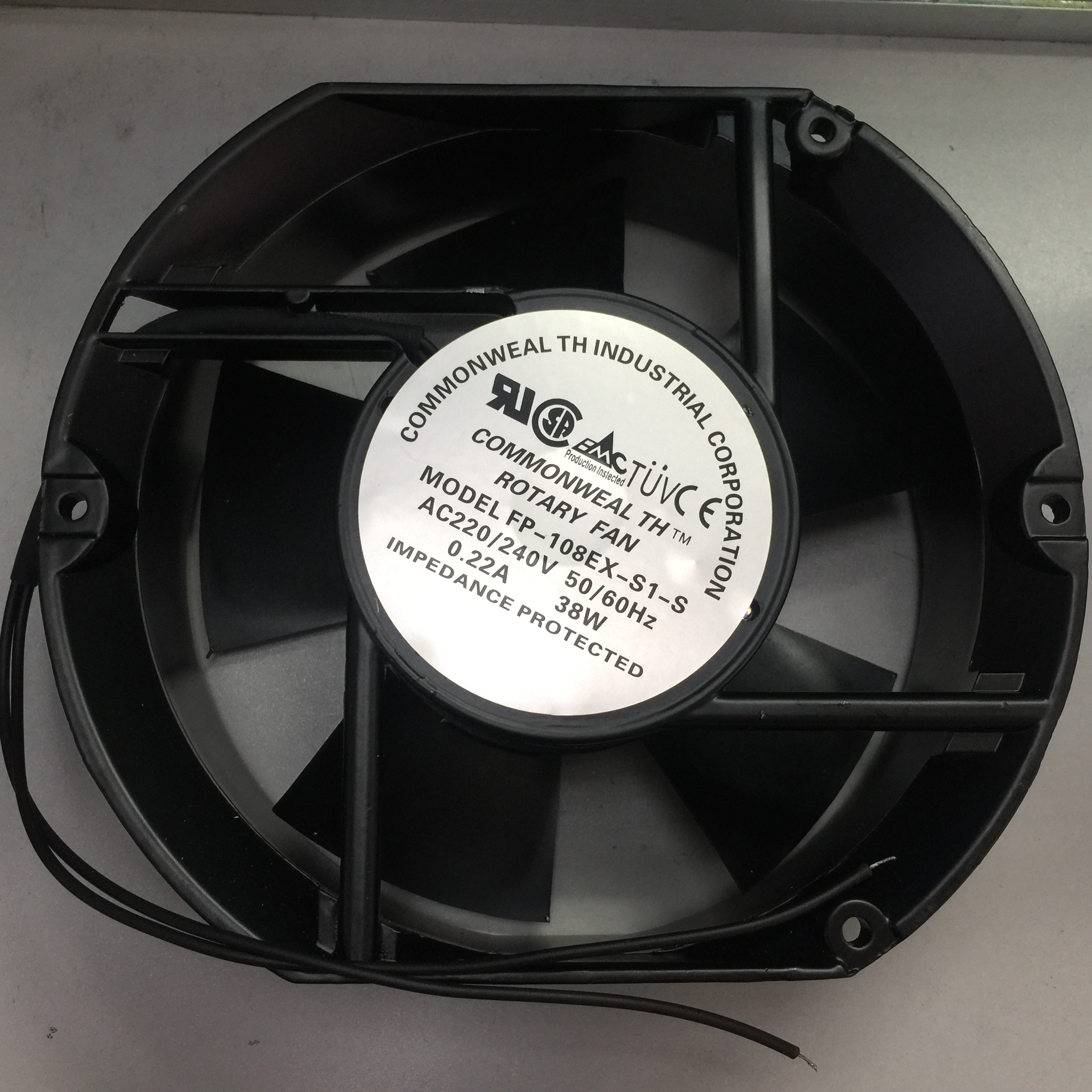 Free Shipping Working For FP-108EX-S1-S 220V 38W 0.22A Axial Fan 170*150*51mm 2pin Well Tested