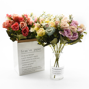 Image 4 - 13 köpfe silk rosen Braut blumenstrauß Hochzeit weihnachten dekoration für home vase ornamentalen blumentopf künstliche blumen scrapbooking