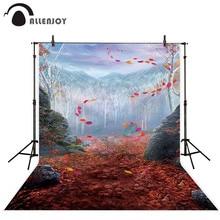 Allenjoy יער תפאורות רקע קפוא עלים הרי טבע חורף הפלאות ילדי מקצועי שיחת וידאו photophone