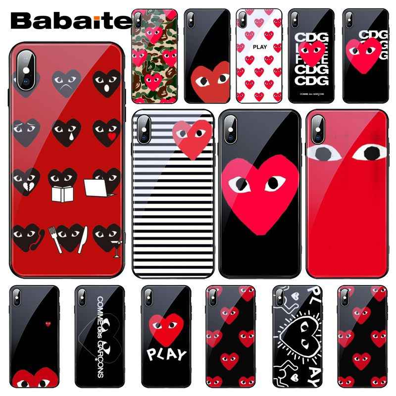 good selling premium selection wholesale online Babaite Love CDG Play Phone Case for iphone 11 Pro 11Pro Max ...