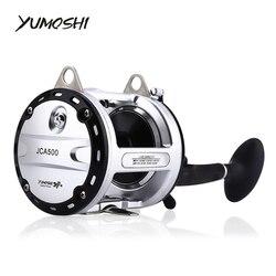 YUMOSHI 12 + 1 łożyska kulkowe High Speed Cast bęben kołowrotek wędkarski przynęta Tackle Trolling łódź słonowodne prawe ręce okrągły Reel JCA
