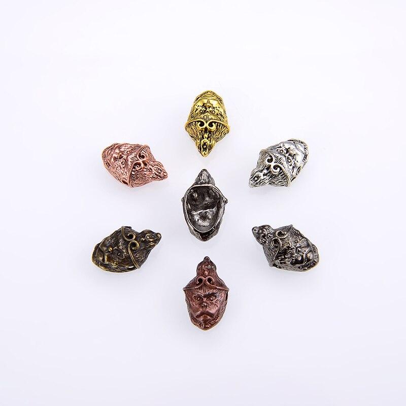 10PCS/package Wholesale Monkey King Head Guru Muzhu Beads Fashion Prayer Mala Jewelry Accessories Making