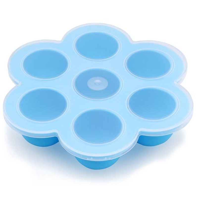 1pcs Silicone Egg Bite Mold Baby Food Storage Container Fruit Ice Cube Ice Cream Maker Kitchen Instant Pot Accessories Muffin