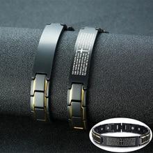 Magnetic Bracelet Benefits Cross-Health Black Vinterly Stainless-Steel Men