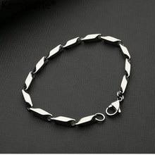 Kemstone 4 мм посеребренный простой браслет из нержавеющей стали для мужчин