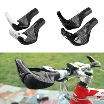 1 Set Cycling MTB Mountain/Road Bike Bicycle Lock-On Carbon Handlebar Cover Handle Grip Bar End Bicycle Parts &T8 image