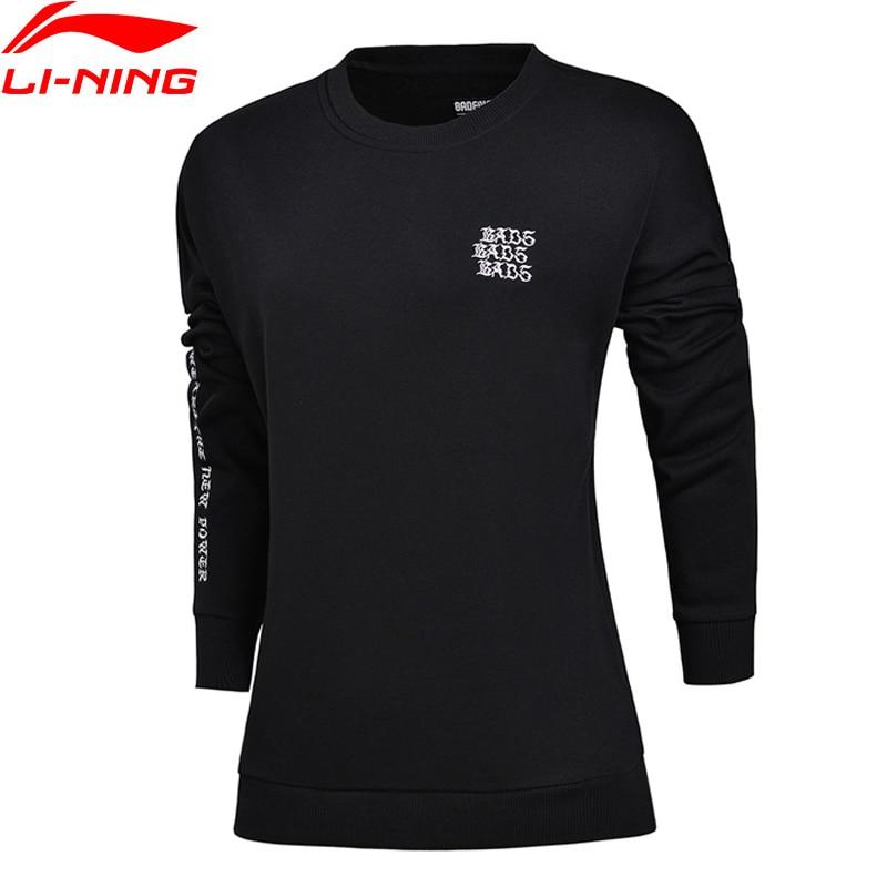 Li-Ning Women BAD FIVE Basketball PO Knit Top Sweater Loose Fit 68% Cotton 32% Polyester LiNing Sports Sweaters AWDM584 WWW947