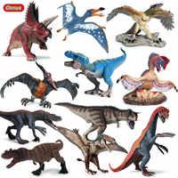 Oenux-figuras de acción de dinosaurios del Parque Jurásico, dinosaurios de alta calidad t-rex, Pteranodon, Therizinosaurus, modelo de Spinosaurus