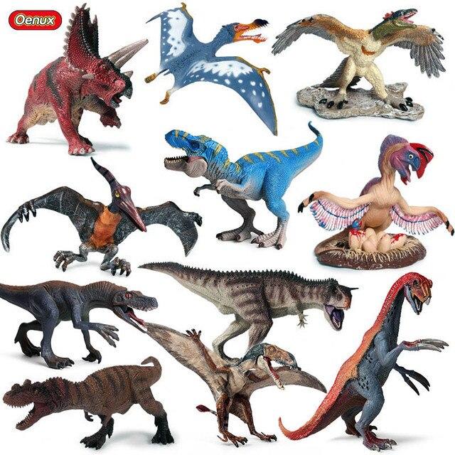 Oenux haute qualité dinosaure monde parc t-rex Pteranodon Therizinosaurus Spinosaurus modèle jurassique dinosaures figurines jouet