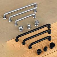 Door Handle, Modern Minimalist Wardrobe Pull, Black American Drawer Cabinet Door Drawer Handle 304 Stainless Steel Knob