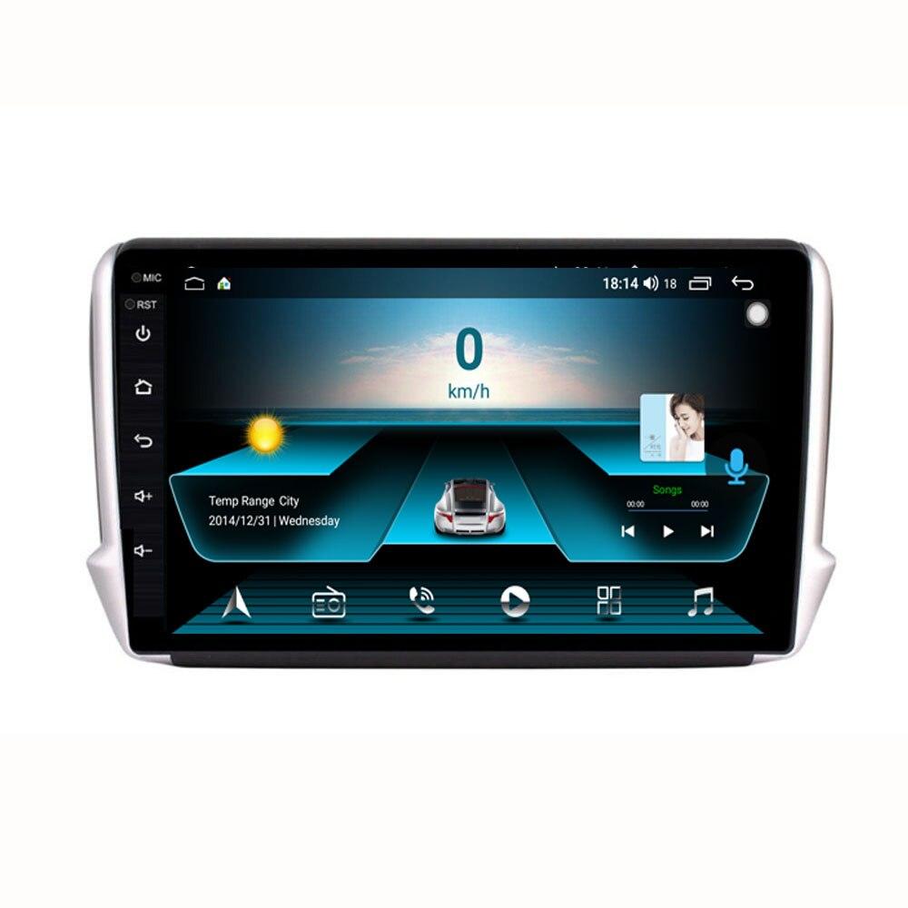 4g lte android 10.1, para peugeot 2008 208 séries 2012-2018 multimídia estéreo player de dvd navegação gps rádio