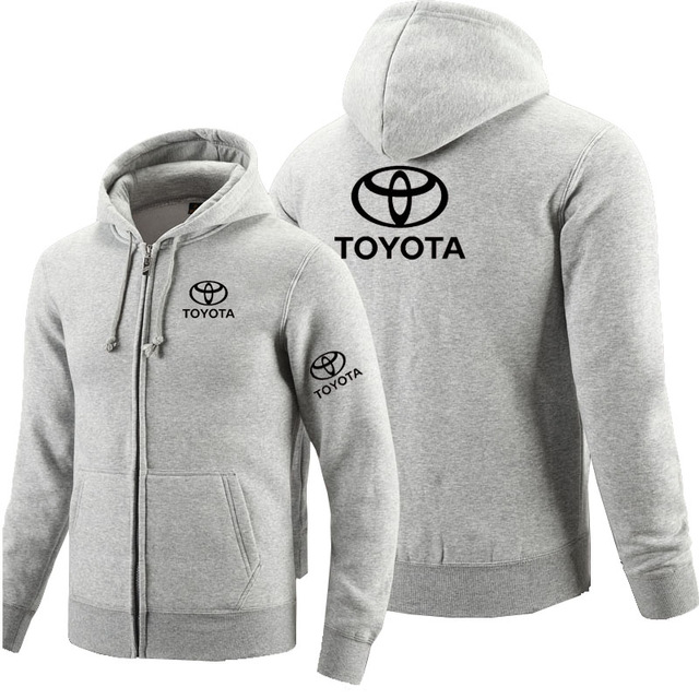 Zipper Hoodies Jacket Toyota Sweatshirt Logo Moto-Printed Long-Sleeve Fleece Autumn Car