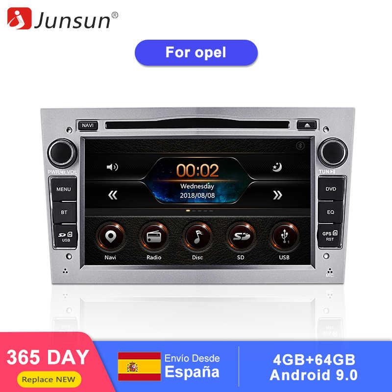 Junsun 2 喧騒車の dvd プレーヤーオペルアストラベクトラ Corsa アンタラ Vivaro Zafira Meriva でアンドロイド 9.0 Gps 4 + 64 ギガバイトオプション