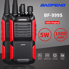 2 pces baofeng BF-999S além de rádio portátil sem fio cb walkie talkie uhf 400-470mhz rádio em dois sentidos fm tansceiver atualizar BF-888S