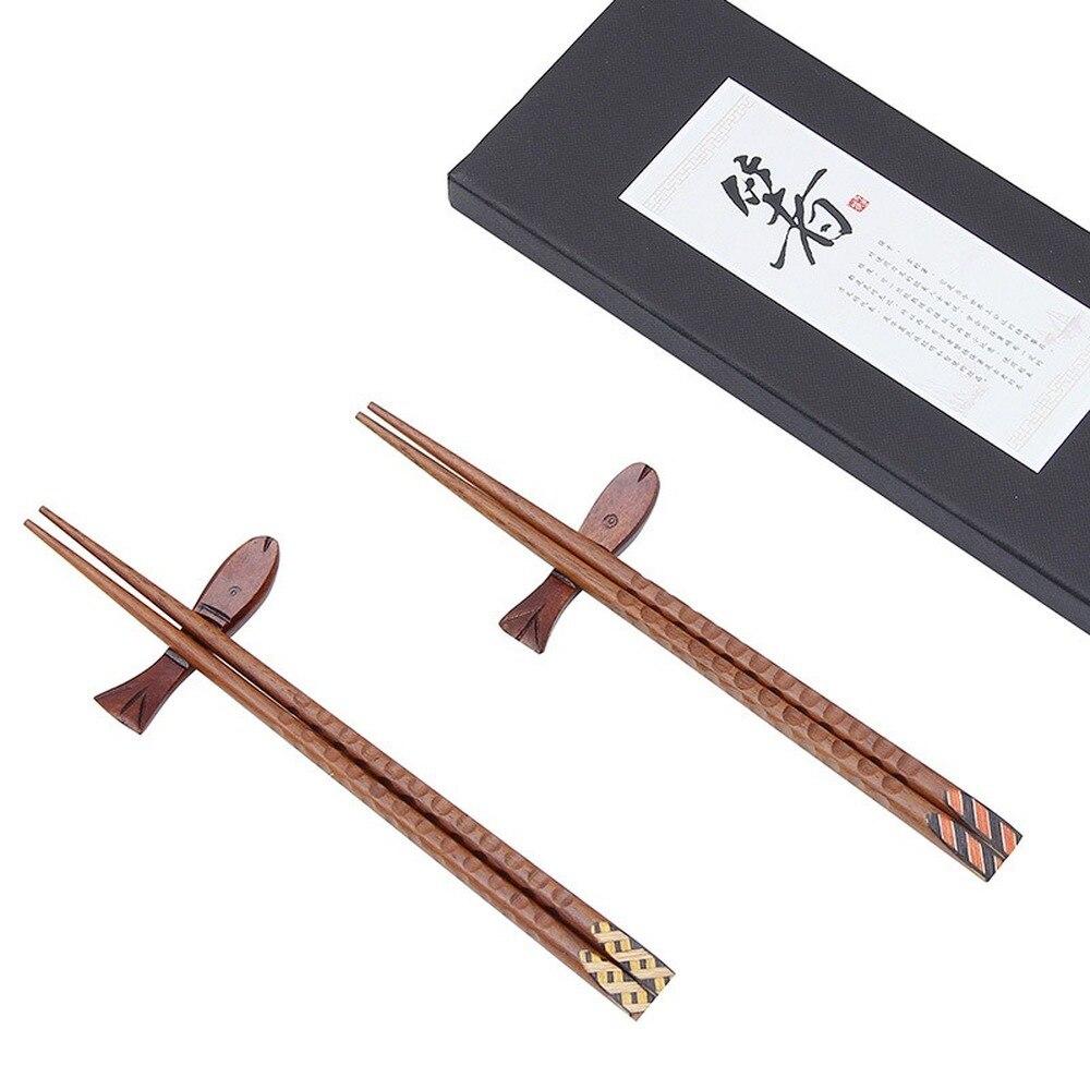 Купить 5 пар новых подарочных палочек из массива дерева в японском