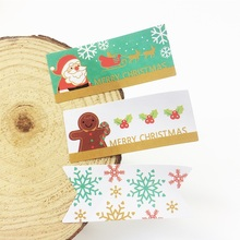 80 pcs/lot  MERRY CHRISTMAS Gingerbread Man Snowman Seal Sticker DIY Note Gift Labels Decoration Stickers Scrapbooking